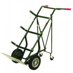 Harper Trucks - 786-40 - Harper Series 700 Cylinder Hand Truck With 10' X 2' Solid Rubber Wheels, 3' Rubber Retractable Rear Caster, Uni Handle And 9' X 18' Base Plate, ( Each )