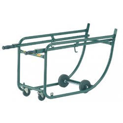 "Harper Trucks - 8818-41 - Harper Series 88 700 lb Drum Rack With 5"" X 1 1/4"" Hard Core Soft Tread Wheels, 3'' X 13/16'' Rubber Swivel Caster, Two Retractable Handle"