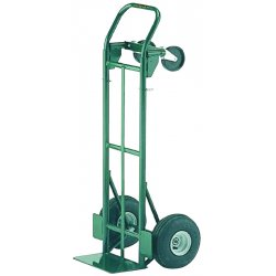 Harper Trucks - JEDTK1935P - Harper 700 lb Dual Application Commercial Grade Hand Truck With 10' X 3 1/2' Pneumatic 2-Ply Tubeless Wheels, 5' Poly Caster, Pin Handle And 7' X 14' Base Plate, ( Each )