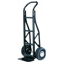Harper Trucks - PGCSK19BLK - Harper Series PGC Nylon Hand Truck With 10' X 3 1/2' Pneumatic 2-Ply Tubeless Wheels, Continuous Handle And 7' X 14' Steel Base Plate, ( Each )