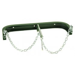 "Harper Trucks - WB2-23 - Harper 25"" Wall Bracket With Chain (Holds 9 1/4"" Oxygen And 13"" Acetylene Cylinder)"