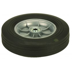 Harper Trucks - WH60 - Harper 10' X 2 1/2' 400 lb Solid Rubber Wheel With 2 1/4' Offset Poly Hub And 5/8' Ball Bearing, ( Each )