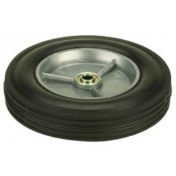 "Harper Trucks - WH70 - Harper 8'' X 1 3/4'' 150 lb Solid Rubber Wheel With 1 1/2"" Offset Poly Hub And 1/2"" Plain Bearing"