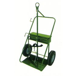 Saf-T-Cart - 552-16 - Saf-T-Cart 780 lb Dual Cylinder Cart With 16' X 4' SC-11 Steel Hub Pneumatic Wheels, Continuous Handle, 13' X 24' Base Plate And Eye Hook, ( Each )