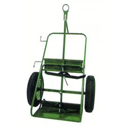 "Saf-T-Cart - 554-30 - Saf-T-Cart 1680 lb Industrial Dual Cylinder Cart With 30"" X 6"" SC-12 Auto Tires, Continuous Handle, 13"" X 24"" Base Plate And Eye Hook"