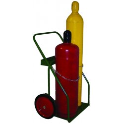 Saf-T-Cart - 860-14 - Saf-T-Cart 400 lb Dual Cylinder Cart With 14' X 1 3/4' SC-10 Semi-Pneumatic Wheels, Continuous Handle, 12' X 21' Base Plate (For Large Oxygen And Medium Acetylene Cylinders), ( Each )