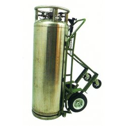 Saf-T-Cart - LCT-12-6 - Saf-T-Cart Single Cylinder Cart With 12' X 4' SC-34 Pneumatic (LCTFR) Wheels, SC-31 Caster, Dual Handle (For Liquid Cylinders With A Combined Diameter No Greater Than 20'), ( Each )