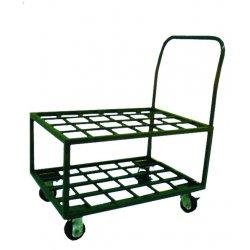 Saf-T-Cart - MDE-24 - 37H x 34W x 33 1/4D Steel Medical Cylinder Cart, Cylinder Capacity: 24