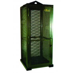 "Saf-T-Cart - STS-9 - Green Gas Cylinder Cabinet, 32"" Overall Width, 32"" Overall Depth, 85"" Overall Height, 9 Vertical Cyl"