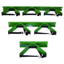 Saf-T-Cart - WB-101 - Saf-T-Cart 3' X 14' X 6' Steel Wall Bracket With STP-42 Strap (Holds 9 1/4' Cylinder), ( Each )