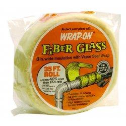 """Wrap-On - 16506 - W0j40 1/2""""x6""""x35' Fiberglass Insulation, Ea"""