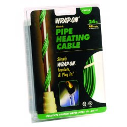 Wrap-On - 31003 - 3' 120v Heat Tape Dark Green W/thermosta, Ea