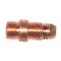 "WeldCraft - 17CB20 - Weldcraft Copper 1/8"" Stubby Non-Gas Lens Collet For WP-17, WP-18 And WP-26 Torches"