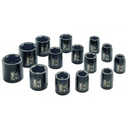 "Ingersoll-Rand - SK4M14 - Ingersoll-Rand 1/2"" Drive Metric Set, 14 Piece - Forged Chrome Molybdenum, Steel"