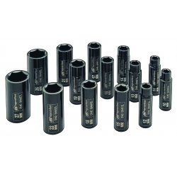 "Ingersoll-Rand - SK4M14L - 1/2"" Drive Metric Deep Socket Set"