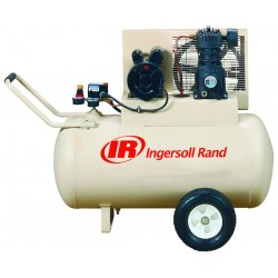 Ingersoll-Rand - SS3F2-GM - Ingersoll-Rand SS3F2-GM 2 HP 115V 30-Gallon Horizontal (Mobile Unit W/ Wheels 5.7 CFM's)