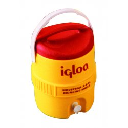 Igloo - 451 - 5 Gal Yellow/red Plasticind. Cooler, Ea