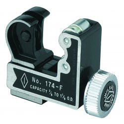"Imperial Stride Tool - 174-F - 2-11/16""L Screw-Feed Tubing Cutter, Cuts Copper, Aluminum, Brass, Steel, Stainless Steel"