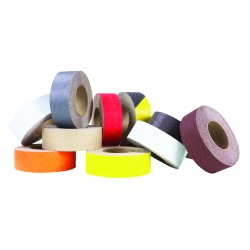"Jessup - 3360-1 - 60 ft. x 1"" Aluminum Oxide Antislip Tape, Black/Yellow"