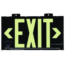 Jessup - 7001-B - Glo Brite Eco Framed Exit Signs Black Frame