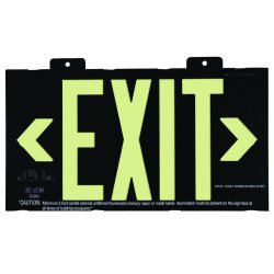Jessup - 7002-B - Glo Brite Eco Framed Exit Signs Black Frame