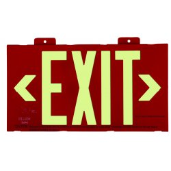 Jessup - 7012-B - Glo Brite Eco Framed Exit Signs Red Frame
