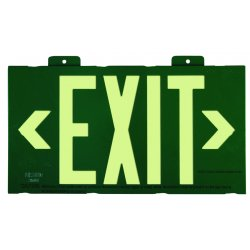 Jessup - 7021-B - Glo Brite Eco Framed Exit Signs Green Frame