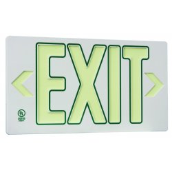 Jessup - 7120-B - Single Sided White Withgreen Outline Ec? Exit