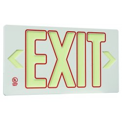 Jessup - 7132-B - Double Sided White Withred Outline Ec? Exit P