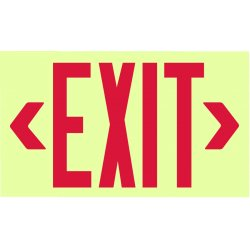 Jessup - 7210 - Glo Brite Eco Unframed Exit Signs Red Text
