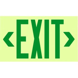 Jessup - 7220 - Glo Brite Eco Framed Exit Signs Grn Reflect