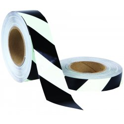 "Jessup - 7760-1-STP - 1"" X 100 Ft. Rl Blk Stripe Tape (12 Rolls/case)"