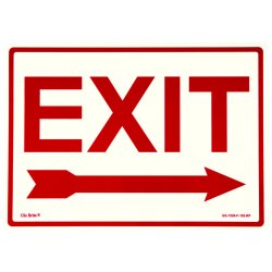 Jessup - EG-7520-F-102-RP - Peel And Stick Eg Sign Glow Background; Red Text