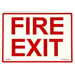 Jessup - EG-7520-F-104-RP - Peel And Stick Eg Sign Glow Background; Red Text