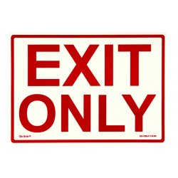 Jessup - EG-7520-F-110-RP - Peel And Stick Eg Sign Glow Background; Red Text