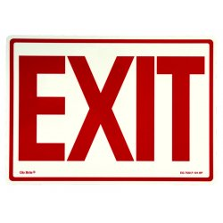 Jessup - EG-7520-F-112-RN - Peel And Stick Eg Sign Yellow/bl; Red Background
