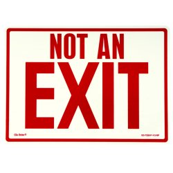 Jessup - EG-7520-F-113-RP - Peel And Stick Eg Sign Glow Background; Red Text