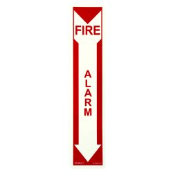 Jessup - FS-7520-F-201 - Fire Sign- Glow In The Dark- Peel And Stick- Red