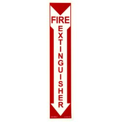Jessup - FS-7520-F-202 - Fire Sign- Glow In The Dark- Peel And Stick- Red
