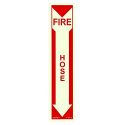 Jessup - FS-7520-F-203 - Fire Sign- Glow In The Dark- Peel And Stick- Red