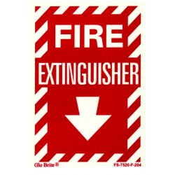 Jessup - FS-7520-F-204 - Fire Sign- Glow In The Dark- Peel And Stick- Red