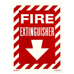 Jessup - FS-7520-F-205 - Fire Sign- Glow In The Dark- Peel And Stick- Red