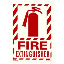Jessup - FS-7520-F-206 - Fire Sign- Glow In The Dark- Peel And Stick- Red