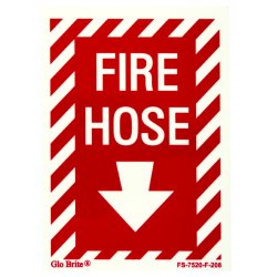 Jessup - FS-7520-F-208 - Fire Sign- Glow In The Dark- Peel And Stick- Red