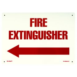 Jessup - FS-7520-R-211 - Glow In The Dark Fire Extinguisher Signs- Rigid