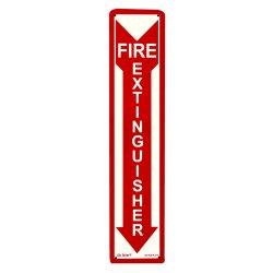 Jessup - FS-7520-R-214 - Glow In The Dark Fire Extinguisher Signs- Rigid