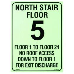 Jessup - ICC-7812-004-C - Floor Identification Sign (custom) Icc Egress/f