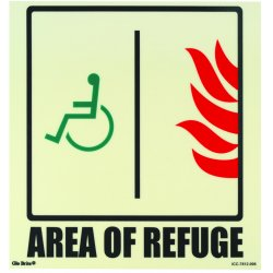 Jessup - ICC-7812-006 - Area Of Refuge Icc Egress/fire Safety Signage