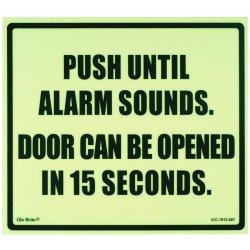 Jessup - ICC-7812-007 - Push Until Alarm Sounds– 15 Seconds Icc Egress