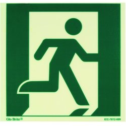 Jessup - ICC-7812-009 - Running Man – Right Iccegress/fire Safety Sign